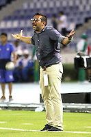 BARRANQUILLA  -COLOMBIA, 10-09-2016. Carlos Barato director técnico de  Fortaleza  durante encuentro contra Junior   por la fecha 11 de la Liga Aguila II 2016 disputado en el estadio Metropolitano Roberto Meléndez ./ Carlos Barato coach of  Fortaleza  agaisnt  of Junior  during match for the date 11 of the Aguila League II 2016 played at Metroplitano Roberto Melendez stadium . Photo:VizzorImage / Alfonso Cervantes  / Contribuidor