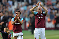 Mark Noble of West Ham and James Collins of West Ham during West Ham United vs Everton, Premier League Football at The London Stadium on 13th May 2018