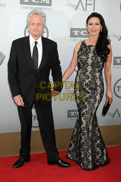 5 June 2014 - Hollywood, California - Michael Douglas, Catherine Zeta-Jones, Catherine Zeta Jones. 42nd Annual AFI Life Achievement Award Honoring Jane Fonda held at the Dolby Theatre.  <br /> CAP/ADM/BP<br /> &copy;Byron Purvis/AdMedia/Capital Pictures