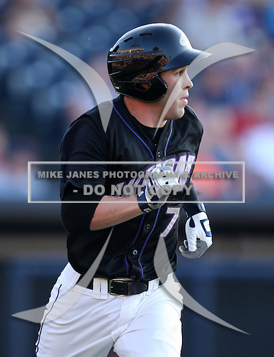 Akron Aeros Second Baseman Jason Kipnis (7) during a game vs. the Binghamton Mets at Eastwood Field in Akron, Ohio;  June 25, 2010.   Binghamton defeated Akron 5-3.  Photo By Mike Janes/Four Seam Images
