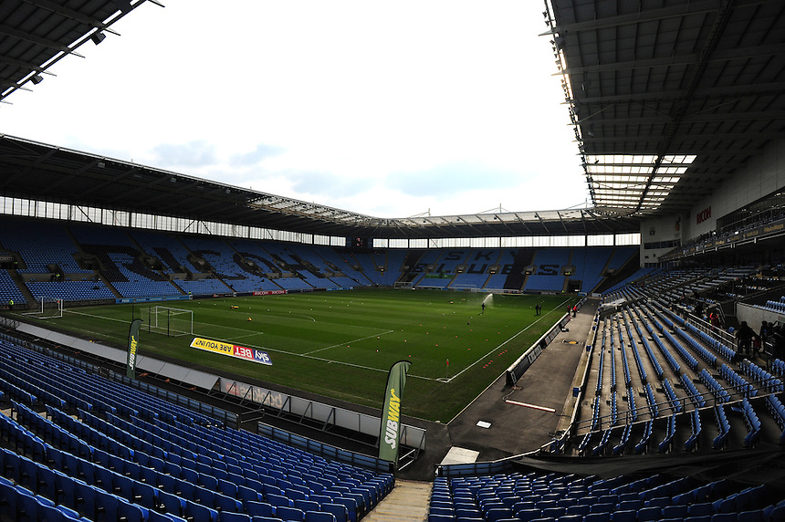 A general view of home of Coventry City<br /> <br /> Photographer Andrew Vaughan/CameraSport<br /> <br /> Football - The Football League Sky Bet League One - Coventry City v Fleetwood Town - Saturday 27th February 2016 - Ricoh Stadium - Coventry   <br /> <br /> &copy; CameraSport - 43 Linden Ave. Countesthorpe. Leicester. England. LE8 5PG - Tel: +44 (0) 116 277 4147 - admin@camerasport.com - www.camerasport.com