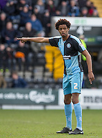 Sido Jombati of Wycombe Wanderers during the Sky Bet League 2 match between Notts County and Wycombe Wanderers at Meadow Lane, Nottingham, England on 28 March 2016. Photo by Andy Rowland.