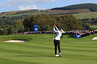 Anna Nordqvist Team Europe on the 8th fairway during Day 1 Fourball at the Solheim Cup 2019, Gleneagles Golf CLub, Auchterarder, Perthshire, Scotland. 13/09/2019.<br /> Picture Thos Caffrey / Golffile.ie<br /> <br /> All photo usage must carry mandatory copyright credit (© Golffile | Thos Caffrey)