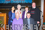 PIONEERS: Fr Kieran O'Brien with the St John's parish Pioneers at his Farewell party at the Grand hotel, Tralee on Monday seated l-r: John Cooke (president) and Fr Kieran O'Brien. Back l-r: Jackie Gavaghan, Celia Cooke, Teresa O'Hara and John Griffin.....