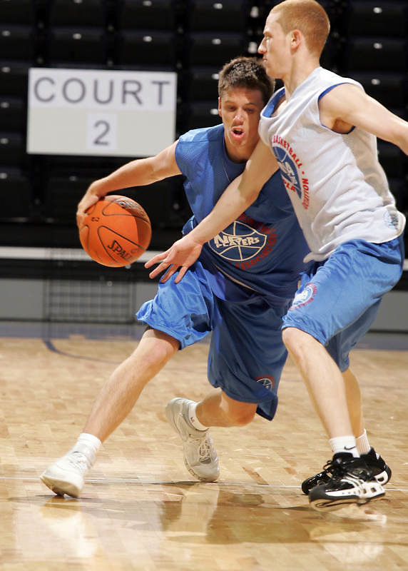 1/2G Andy Burns (Minnetonka, MN / Minnetonka) drives the ball during the NBA Top 100 Camp held Thursday June 21, 2007 at the John Paul Jones arena in Charlottesville, Va. (Photo/Andrew Shurtleff)