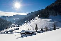 Oesterreich, Salzburger Land, Dienten: Bauernhof | Austria, Salzburger Land, Dienten: farmhouse