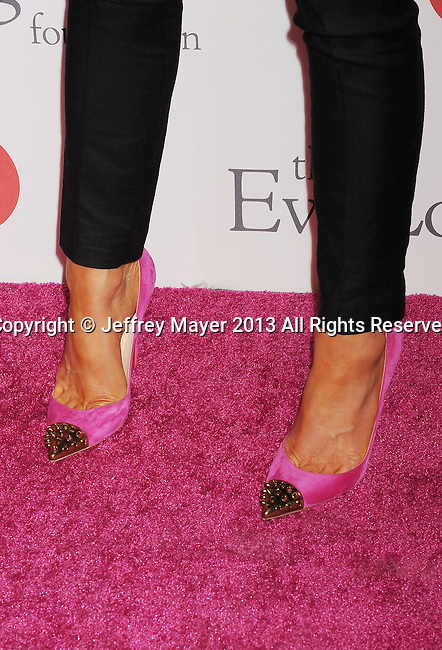 HOLLYWOOD, CA- SEPTEMBER 28: Actress Kate Beckinsale (shoe detail) at the Eva Longoria Foundation Dinner at Beso restaurant on September 28, 2013 in Hollywood, California.