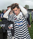 A dejected Queens Park Paul Woods leaves the park at the end of the game.