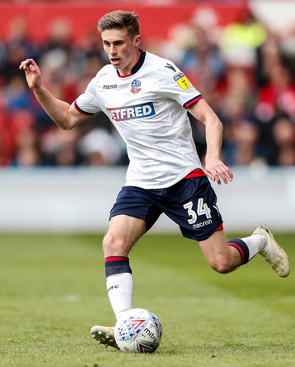 Bolton Wanderers' Joe Pritchard  <br /> <br /> Photographer Andrew Kearns/CameraSport<br /> <br /> The EFL Sky Bet Championship - Nottingham Forest v Bolton Wanderers - Sunday 5th May 2019 - The City Ground - Nottingham<br /> <br /> World Copyright © 2019 CameraSport. All rights reserved. 43 Linden Ave. Countesthorpe. Leicester. England. LE8 5PG - Tel: +44 (0) 116 277 4147 - admin@camerasport.com - www.camerasport.com