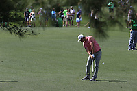 Justin Rose (ENG) on the 7th fairway during the 1st round at the The Masters , Augusta National, Augusta, Georgia, USA. 11/04/2019.<br /> Picture Fran Caffrey / Golffile.ie<br /> <br /> All photo usage must carry mandatory copyright credit (© Golffile | Fran Caffrey)