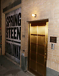 Stage Door as Patti Scialfa and Bruce Springsteen leaving the Walter Kerr Theater on the official opening night  performance of 'Springsteen On Broadway' on October 12, 2017 in New York City.