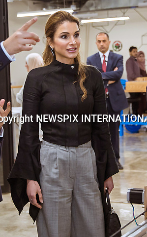 03.05.2017; Amman, Jordan: QUEEN RANIA<br />visits the Fab Lab Irbid and the latest Offline Show held at the Jordan University for Science and Technology. She took a tour of the laboratory&rsquo;s facilities and met with the entrepreneurs of several startups making use of the space.<br />Mandatory Photo Credit: &copy;Royal Hashemite Court/NEWSPIX INTERNATIONAL<br /><br />PHOTO CREDIT MANDATORY!!: NEWSPIX INTERNATIONAL(Failure to credit will incur a surcharge of 100% of reproduction fees)<br /><br />IMMEDIATE CONFIRMATION OF USAGE REQUIRED:<br />Newspix International, 31 Chinnery Hill, Bishop's Stortford, ENGLAND CM23 3PS<br />Tel:+441279 324672  ; Fax: +441279656877<br />Mobile:  0777568 1153<br />e-mail: info@newspixinternational.co.uk<br />&ldquo;All Fees Payable To Newspix International&rdquo;