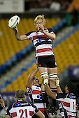 Jamie Chipman feeds lineout ball to Kevin Farrell. Air New Zealand Cup rugby game played at Mt Smart Stadium, Auckland, between Counties Manukau Steelers & Otago on Thursday August 21st 2008..Otago won 22 - 8 after leading 12 - 8 at halftime.