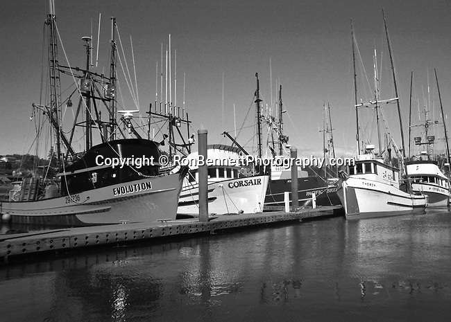 Fishing boats Oregon coast, Black and White Photographs, Black & White Photo's, B&W Photographs,  B&W, Black and White, Fine Art Photography, photography, photo, creative, creative vision, vision,  Art Photography, Copyright RonBennettPhotography.com ©
