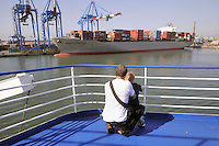 - porto di  Genova, nave portacontainer<br /> <br /> - Genoa port, container ship
