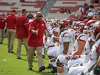 Hawgs Illustrated/BEN GOFF <br /> Michael Smith, Arkansas wide receivers coach Saturday, Oct. 7, 2017, at Williams-Brice Stadium in Columbia, S.C.