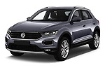 2018 Volkswagen T-Roc Elegance 5 Door SUV angular front stock photos of front three quarter view