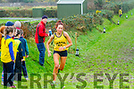 Grace Lynch from the Iveragh AC completing her second lap of the Ladies Cross Country Championship in Cahersiveen on Sunday.