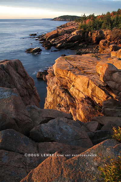 The Seacoast At Sunrise, Acadia National Park, Maine