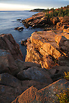 The Seacoast At Sunrise, Acadia National Park, Maine