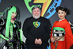 """(L-R) Japanese cosplayer Nekomu Otogi, Apple co-founder Steve Wozniak, Japanese actress Mika Mifune attend a press conference to unveil the """"Tokyo Comic Con 2016"""" in Tokyo, Japan, on December 4, 2015. The inaugural Tokyo Comic Con will take place at the Mukahari Messe Convention Center from December 3-4, 2016. (Photo by AFLO)"""