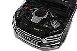 Car stock 2018 Audi S5 Sportback Base 5 Door Hatchback engine high angle detail view