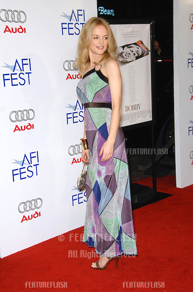 "HEATHER GRAHAM at the AFI Film Festival's opening night gala & US premiere of her new movie ""Bobby"" at the Grauman's Chinese Theatre, Hollywood..November 1, 2006  Los Angeles, CA.Picture: Paul Smith / Featureflash"