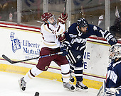 Austin Cangelosi (BC - 26), Matias Cleland (UNH - 2) - The Boston College Eagles defeated the visiting University of New Hampshire Wildcats 6-2 on Friday, December 6, 2013, at Kelley Rink in Conte Forum in Chestnut Hill, Massachusetts.