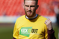 Oli McBurnie of Swansea City warms up prior to the game during the Sky Bet Championship match between Nottingham Forest and Swansea City at City Ground, Nottingham, England, UK. Saturday 30 March 2019