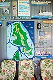 EXUMA, Bahamas. Detail of walls of the Compass Cay Marina