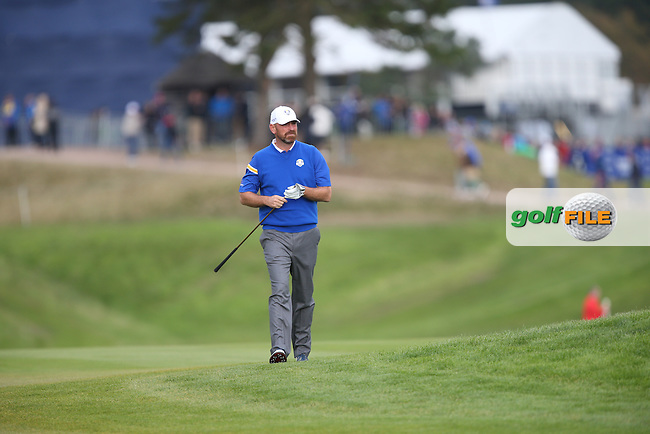 Thomas Bjorn (EUR) during Sunday's Singles at the 2014 Ryder Cup from Gleneagles, Perthshire, Scotland. Picture:  David Lloyd / www.golffile.ie