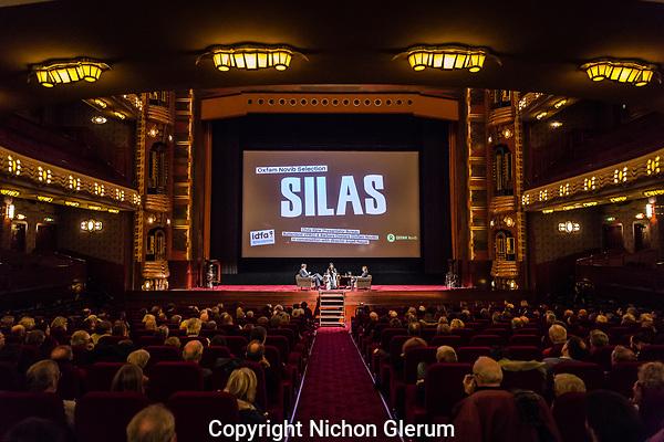 Amsterdam, 22 -11-2017, IDFA International Documentary Filmfestival Amsterdam.  Chris Kijne en Barbara Oosters in gesprek met Director van 'Silas' Anjali Nayar (midden). Photo Nichon Glerum