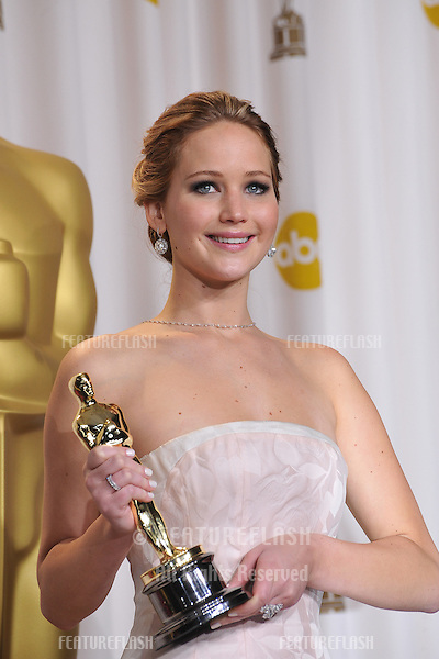 Jennifer Lawrence at the 85th Academy Awards at the Dolby Theatre, Los Angeles..February 24, 2013  Los Angeles, CA.Picture: Paul Smith / Featureflash
