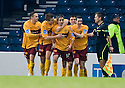 :: KEITH LASLEY IS CONGRATULATED AFTER HE SCORES FOR MOTHERWELL ::