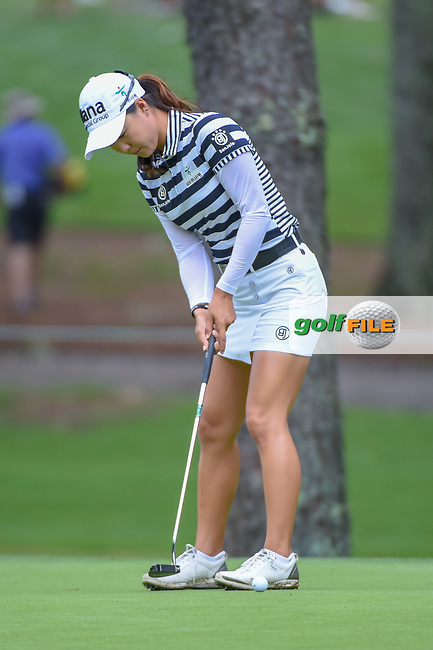 Minjee Lee (AUS) watches her putt on 10 during round 1 of the U.S. Women's Open Championship, Shoal Creek Country Club, at Birmingham, Alabama, USA. 5/31/2018.<br /> Picture: Golffile | Ken Murray<br /> <br /> All photo usage must carry mandatory copyright credit (© Golffile | Ken Murray)