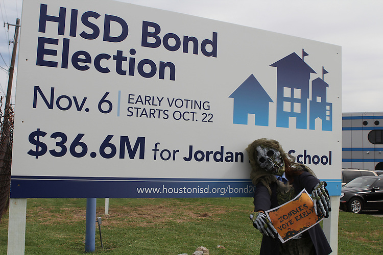 Vote Early Zombie at Jordan High School