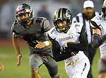 Torrance, CA 09/19/15 - Marcello Merola (Peninsula #8) in action during the Peninsula Panthers - Torrance Tartars Varsity football game at Torrance High School