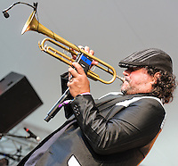 Ozomatli playing at the 2011 Voodoo Festival in New Orleans, LA.