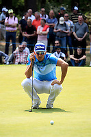 Rafa Cabrera Bello (ESP) on the 11th during round 3 of the 2016 BMW PGA Championship. Wentworth Golf Club, Virginia Water, Surrey, UK. 28/05/2016.<br /> Picture Fran Caffrey / Golffile.ie<br /> <br /> All photo usage must carry mandatory copyright credit (© Golffile   Fran Caffrey)