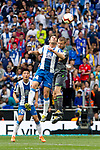 Real Sociedad's Sandro Ramirez and RCD Espanyol's Victor Sanchez during La Liga match. May, 18th,2019. (ALTERPHOTOS/Alconada)