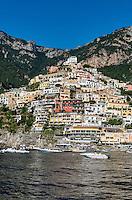The charming coastal resort village of Positano, Amalfi Coast, Italy