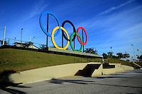 RIO DE JANEIRO , 23 DE MAIO DE 2015 - AROS OLÍMPICOS -os aros olímpicos esta localizado no parque madureira zona norte do rio de janeiro neste sabado 23 (Foto Jorge Hely \ Brazil photo press)