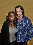 """Gloria Gaynor sang """"I Will Survive"""" poses with Constantine Maroulis who sang """"This Is The Moment"""" (Bold and Beautiful & American Idol) at Loukoumi & Friends Concert held on June 23, 2014 at the Scholastic Theatre, New York City, New York. Proceeds will benefit The Loukoumi Make a Difference Foundation. Foundation first project will be the Make A Difference with Loukoumi television special airing on FOX stations Oct 19-20. (Photo by Sue Coflin/Max Photos)"""