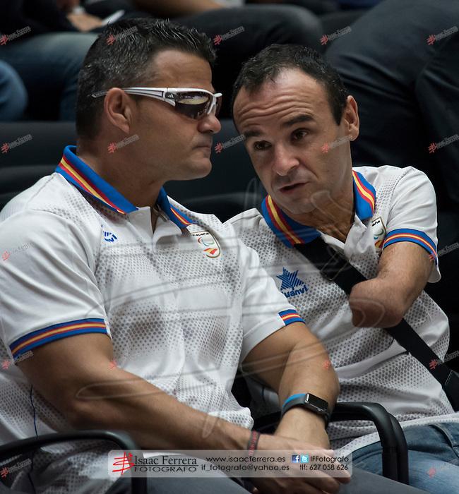 Paralimpic Athletes David Casinos (L) and Ricardo Ten (R).<br /> <br /> Eurocup 2016-2017.<br /> Regular Season - Week 1.<br /> Oct. 12, 2016.<br /> Fuente de San Luis Pavillion (aka La Fonteta).<br /> Valencia Basket 95 - Ratiopharm Ulm 58.