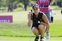 Lexi Thompson (USA) on the 6th green during Thursday's Round 1 of The Evian Championship 2018, held at the Evian Resort Golf Club, Evian-les-Bains, France. 13th September 2018.<br /> Picture: Eoin Clarke | Golffile<br /> <br /> <br /> All photos usage must carry mandatory copyright credit (&copy; Golffile | Eoin Clarke)