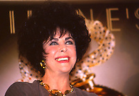 Elizabeth Taylor actrress and AIDS activist at Filene's in Boston MA 10.20.93