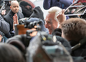 Former adviser to United States President Donald J. Trump, Roger Stone, waves to supporters as he arrives at the US District Court in Washington, DC to be arraigned on an indictment brought by special counsel Robert Mueller on January 29, 2019.  The allegations against the longtime Trump associate say he sought stolen emails from WikiLeaks that could potentially damage Trump's opponents while working in coordination with senior Trump campaign officials.<br /> Credit: Ron Sachs / CNP<br /> (RESTRICTION: NO New York or New Jersey Newspapers or newspapers within a 75 mile radius of New York City)
