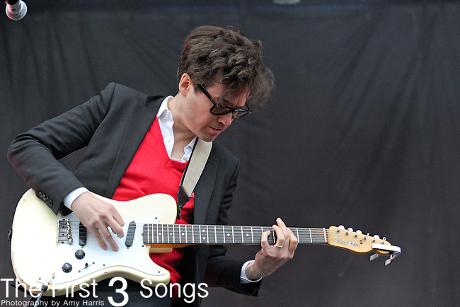 Laurent Brancowitz of Phoenix performs during the The Beale Street Music Festival in Memphis, Tennessee.