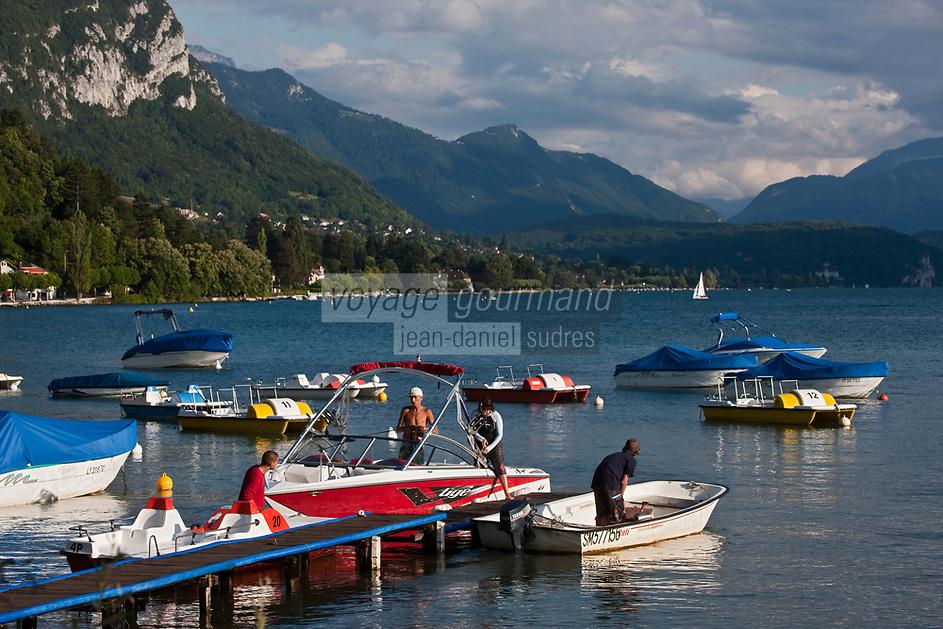 Europe/France/Rhône-Alpes/74/Haute-Savoie/Annecy: les bords du Lac d'Annecy