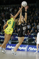 18.07.2007 Silver Ferns Adine Wilson in action during the Silver Ferns v Australia Fisher and Paykel Netball Test Match at Vector Arena, Auckland. Mandatory Photo Credit ©Michael Bradley.